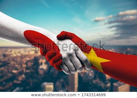 рук рабочих ноутбука Вьетнам экране Сток-фото © michaklootwijk