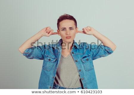 işadamı · parmaklar · kulaklar · iş · ofis · Bina - stok fotoğraf © stockyimages