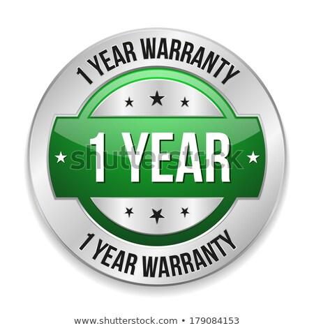 Rok gwarancja zielone wektora ikona przycisk Zdjęcia stock © rizwanali3d