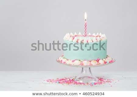 Pink cakes on blue plate  Stock photo © Julietphotography