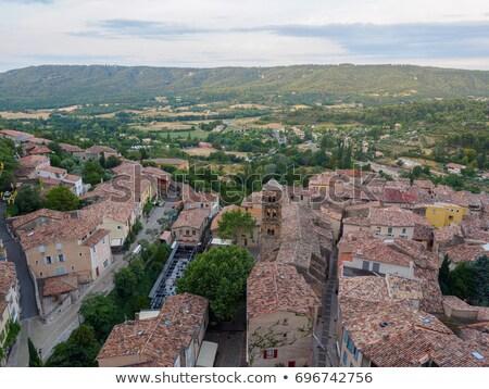çatılar fransız kasaba mimari çatı köy Stok fotoğraf © pumujcl
