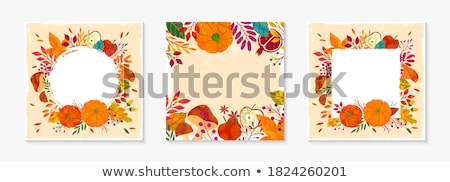 Hálaadás ősz ősz keret kép illusztráció Stock fotó © Irisangel