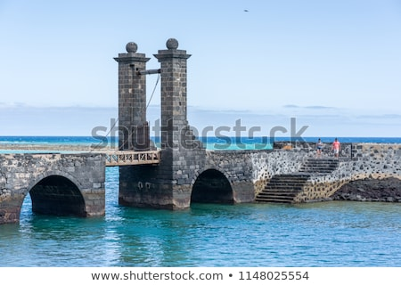 Arrecife and Castle of San Gabriel, Lanzarote, Canary Islands, S Stock photo © meinzahn