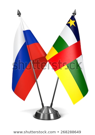 Oroszország központi afrikai köztársaság miniatűr zászlók Stock fotó © tashatuvango