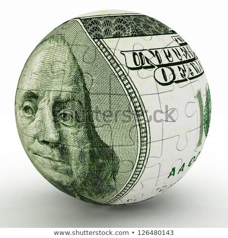 Dollar sphère 3D chrome couleur Photo stock © xedos45