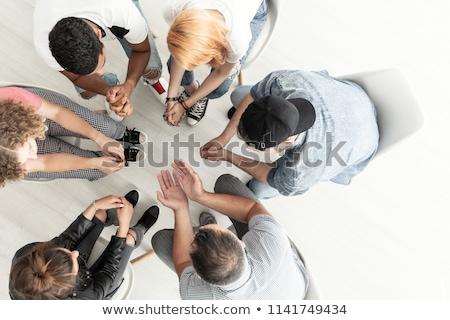 Grupo terapia sessão círculo terapeuta homem Foto stock © wavebreak_media