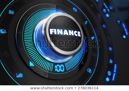 Rijkdom zwarte controle troosten Blauw achtergrondverlichting Stockfoto © tashatuvango