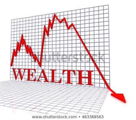 дефицит · сокращение · красный · белый · деньги - Сток-фото © lightsource