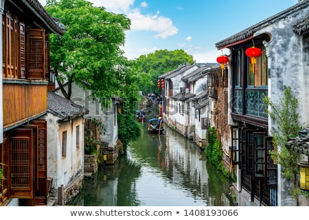 Csatorna víz város utca otthon utazás Stock fotó © fatalsweets