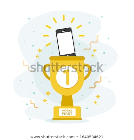Tech Support golden Vector Icon Design stock photo © rizwanali3d