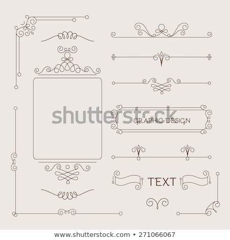 vintage frame mono line Stock photo © belopoppa