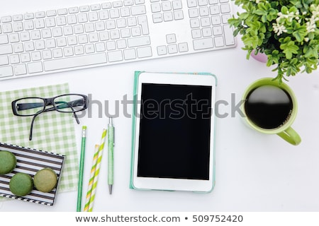 Biurko żywności pić biuro kuchnia Zdjęcia stock © Zerbor