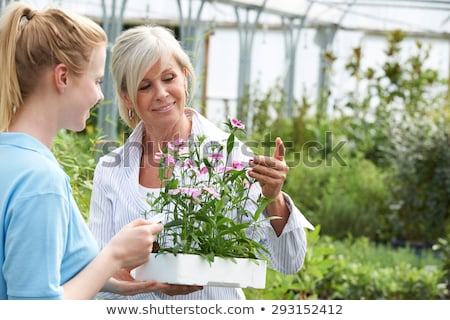 Woman Asking Staff For Plant Advice At Garden Center Stock photo © HighwayStarz