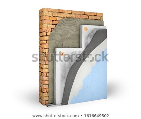 homlokzat · szigetelés · rétegek · fix · háló · fedett - stock fotó © milsiart