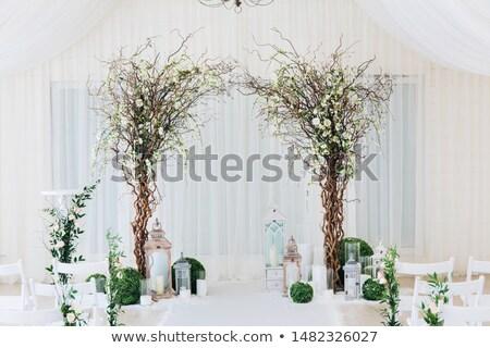 Bruiloft boog banket tabel restaurant mooie Stockfoto © amok