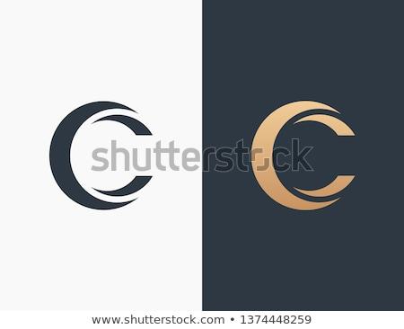 Letra c ícones símbolo projeto cantar Foto stock © blaskorizov