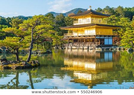 Quioto Japão famoso dourado templo construção Foto stock © jeayesy