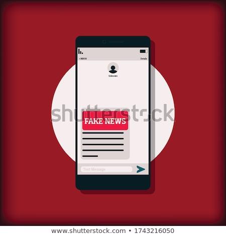 Fake message Stock photo © fuzzbones0