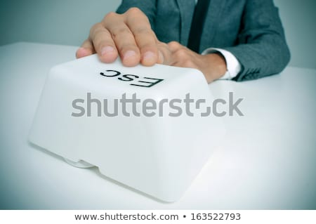 Stock photo: Quit key