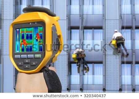 мыть Windows камеры два здании технологий Сток-фото © smuki
