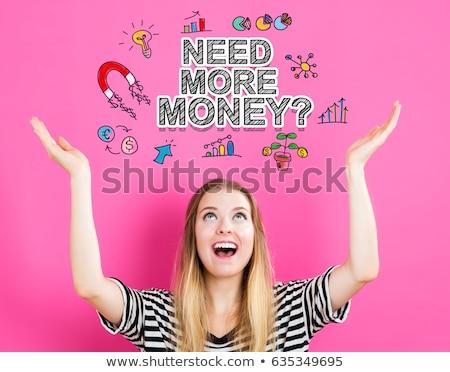 Gerek para kelime elektronik hesap makinesi kâğıt Stok fotoğraf © fuzzbones0