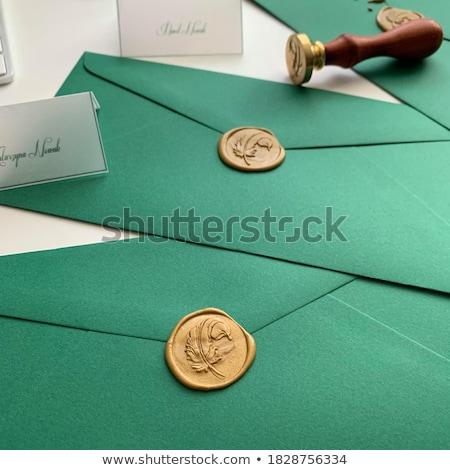 green envelopes stock photo © ivonnewierink