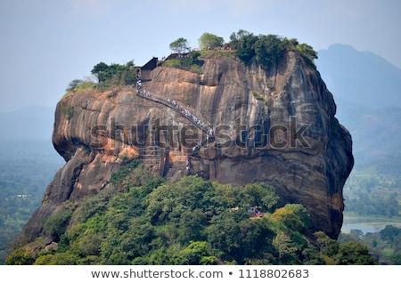 Lion Rock forteresse Sri Lanka mur Voyage Photo stock © Mikko