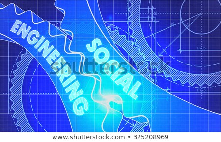 social engineering concept blueprint of gears stock photo © tashatuvango