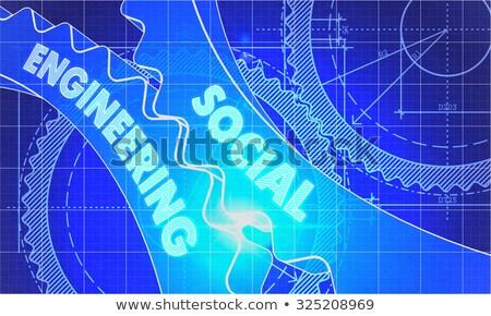 Social engenharia diagrama engrenagens industrial projeto Foto stock © tashatuvango
