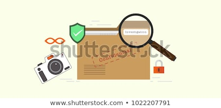 Investigations Concept on File Label. Stock photo © tashatuvango