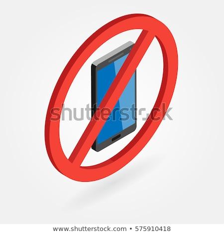 no · cellulare · vettore · segno · telefono · mobile - foto d'archivio © tkacchuk