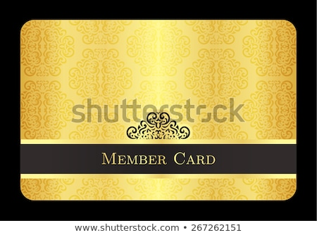 Luxury golden member card with classic vintage pattern Stock photo © liliwhite