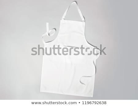 белый фартук моде текстильной хлопка одежду Сток-фото © shutswis