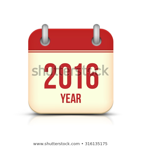 Calendar for 2016 on white background. Vector calendar for 2016 written in Russian names of the mont Stock photo © rommeo79