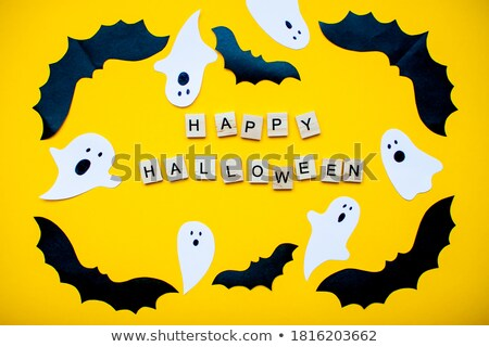 Halloween un message illustration sombre paysage utile Photo stock © elgusser