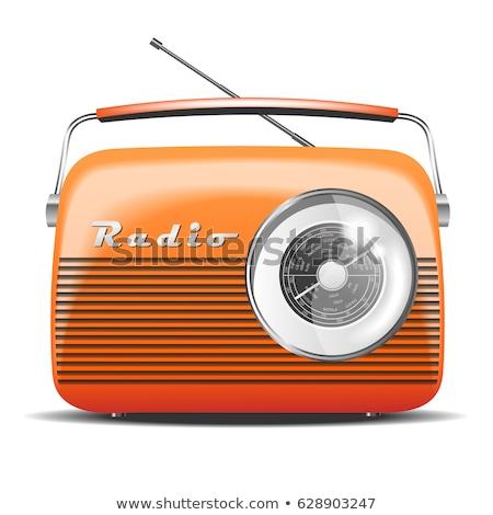 Narancs rádió izolált technológia hangszóró fekete Stock fotó © shutswis