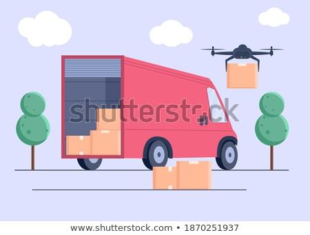 Entrega correio robô pacote isolado Foto stock © Kirill_M