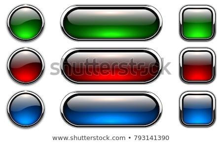 Vector establecer transparente vidrio botones blanco Foto stock © Fosin