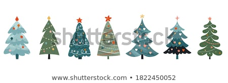 Christmas Illustration - Angels and Christmas tree Stock photo © gigi_linquiet