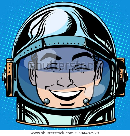 Radości śmiech twarz człowiek astronauta Zdjęcia stock © studiostoks