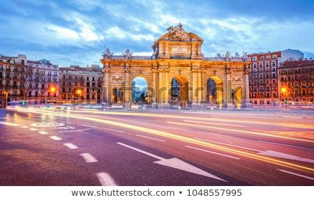 portão · praça · Madri · Espanha · la · flor - foto stock © jeayesy