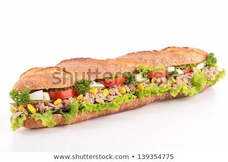 Tojás tengeralattjáró szendvics ropogós zsemle főtt tojás Stock fotó © Digifoodstock
