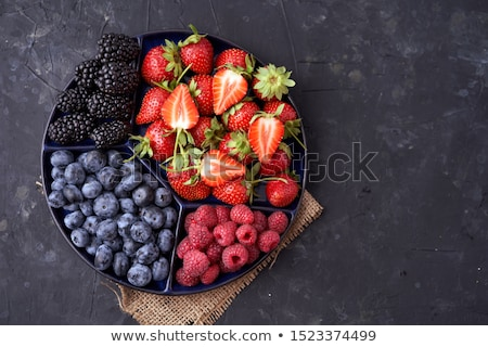 Strawberry and Blackberry Close Stock photo © pictureguy