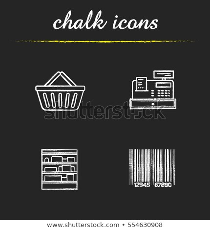 cash register drawn in chalk icon stock photo © rastudio