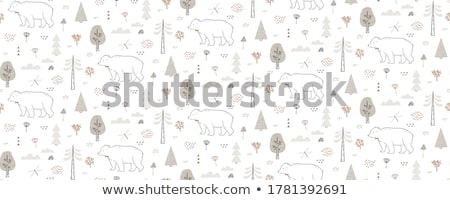 hand drawn bear Stock photo © frescomovie