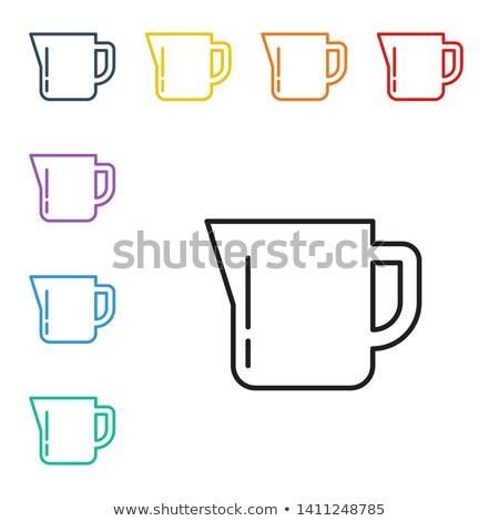 vetro · brocca · latte · isolato · bianco · contenitore - foto d'archivio © angelp