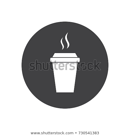 round buttons with disposable cups stock photo © bluering