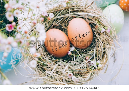 feliz · pascua · Pascua · ninos · compras · ley - foto stock © h2o