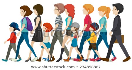A group of faceless kids Stock photo © bluering