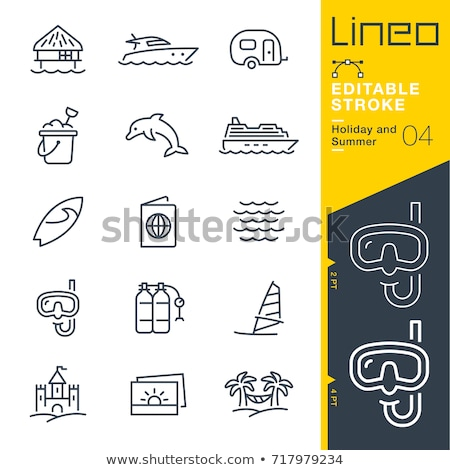 Windszörf ikon színek illusztráció sport terv Stock fotó © bluering